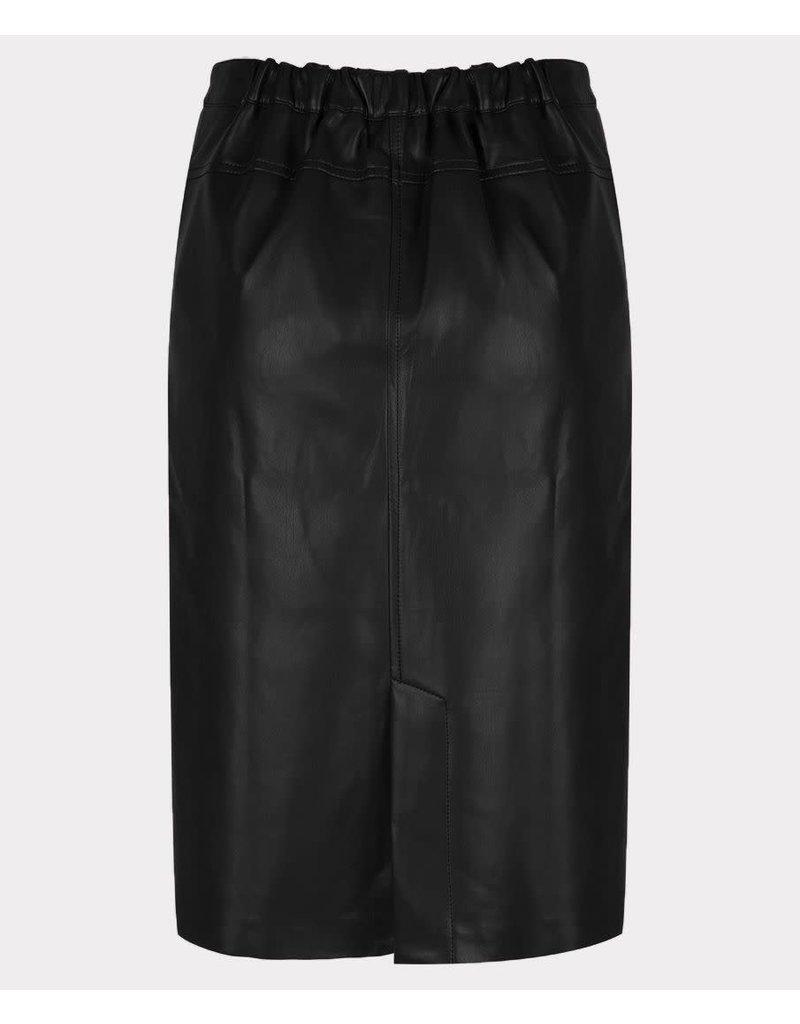 Esqualo Long Pleather Pencil Skirt
