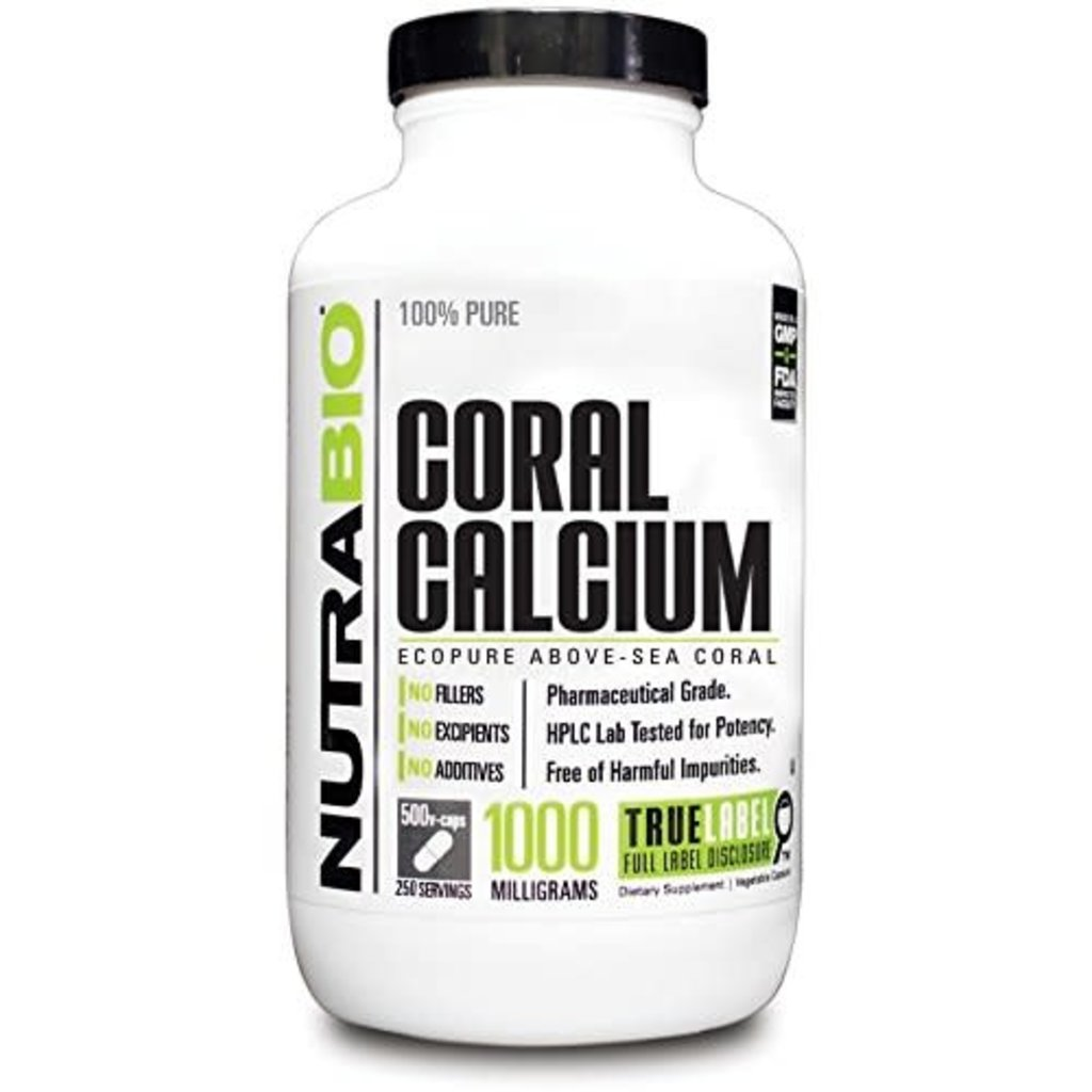 NutraBio Coral Calcium (1000mg) (150ct)
