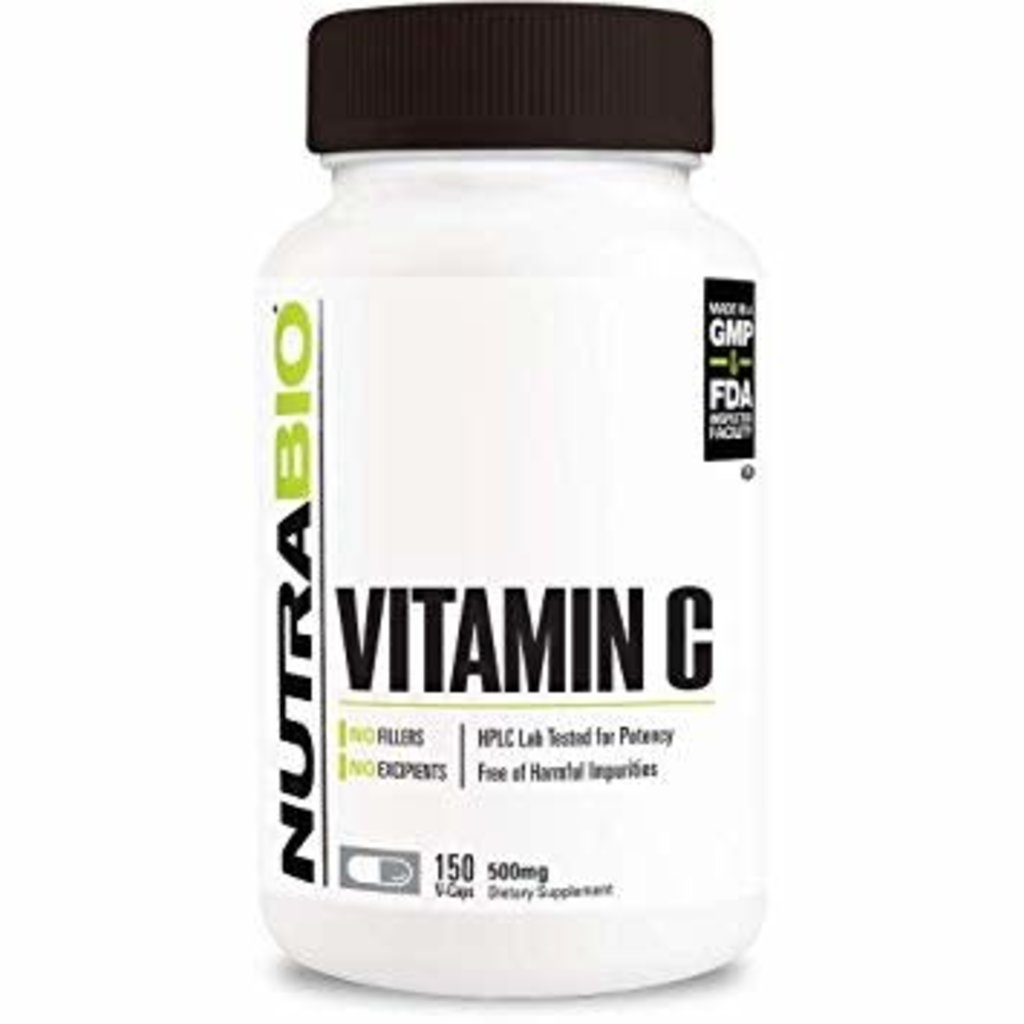 NutraBio Vitamin C (500mg) (150ct)