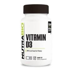 NutraBio Vitamin D (5000 IU) (120ct)