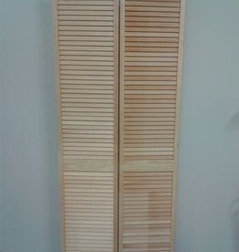Woodbridge Store Pine Louvered Bifold Closet Door