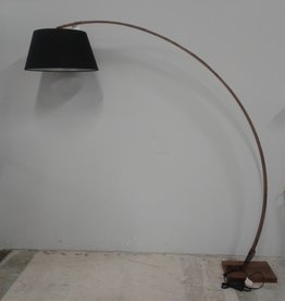 Woodbridge Store Arched Walnut Floor Lamp