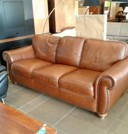 Woodbridge Store Brown Leather Couch