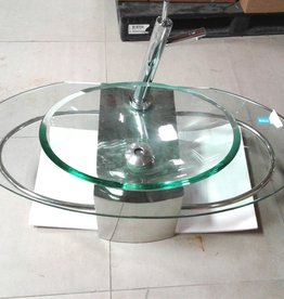 Woodbridge Store Glass Vessel Sink With Faucet