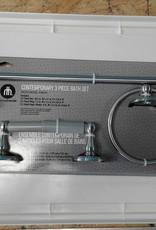 Woodbridge Store 3 PC Bath Set - Satin Nickel