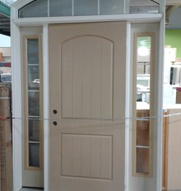 Woodbridge Store Entry Door with Arched Transom