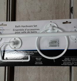 Woodbridge Store Mainstays - 3 Piece Bath Hardware Set (White Finish)