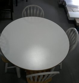 Markham East Store Round White Table