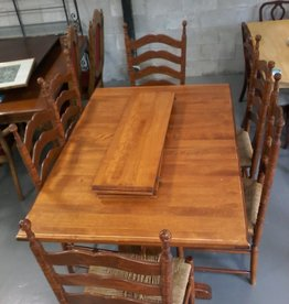 Markham East Store Wooden Dining Table + 6 Chairs