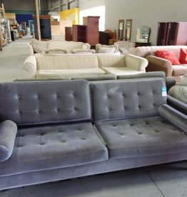 Markham West Store Grey microsuede couch