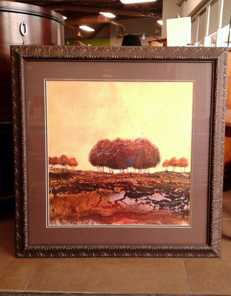 Woodbridge Store Bare Trees #2 Framed Print