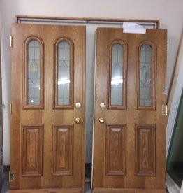 Vaughan Store Double Entrance Doors with Glass Inserts & Frame