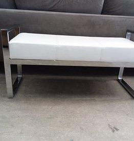 Studio District Store Faux Leather Luxury Bench