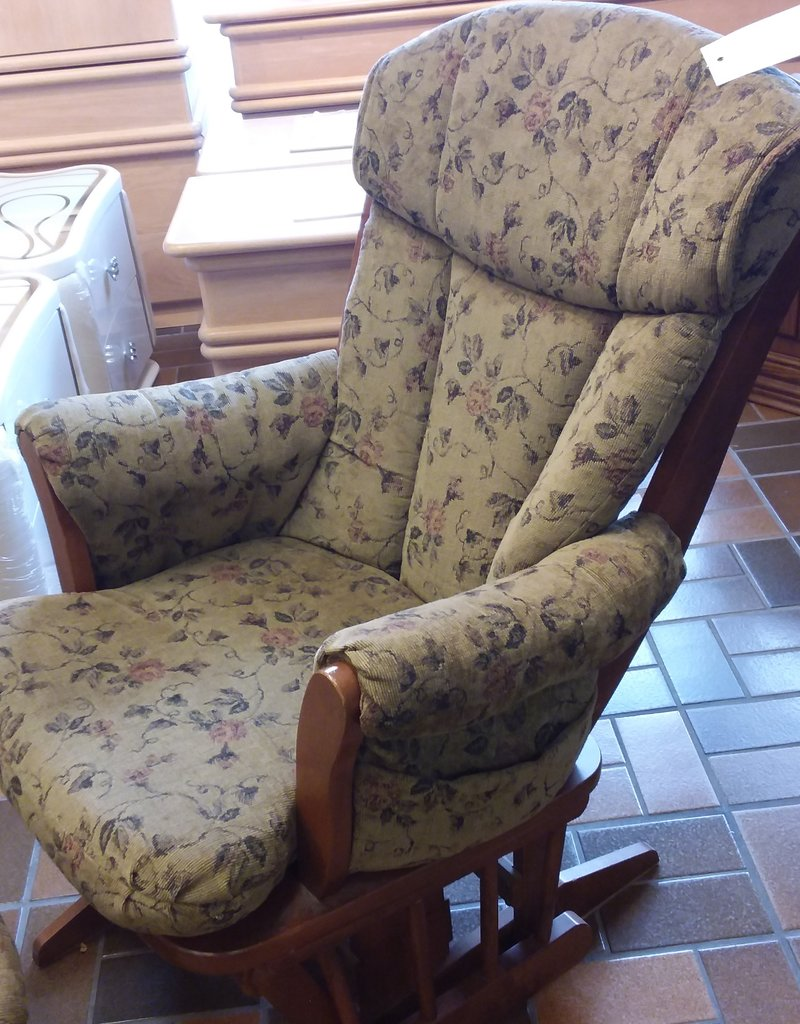 Vaughan Store Rocking Glider Chair With Gliding Ottoman