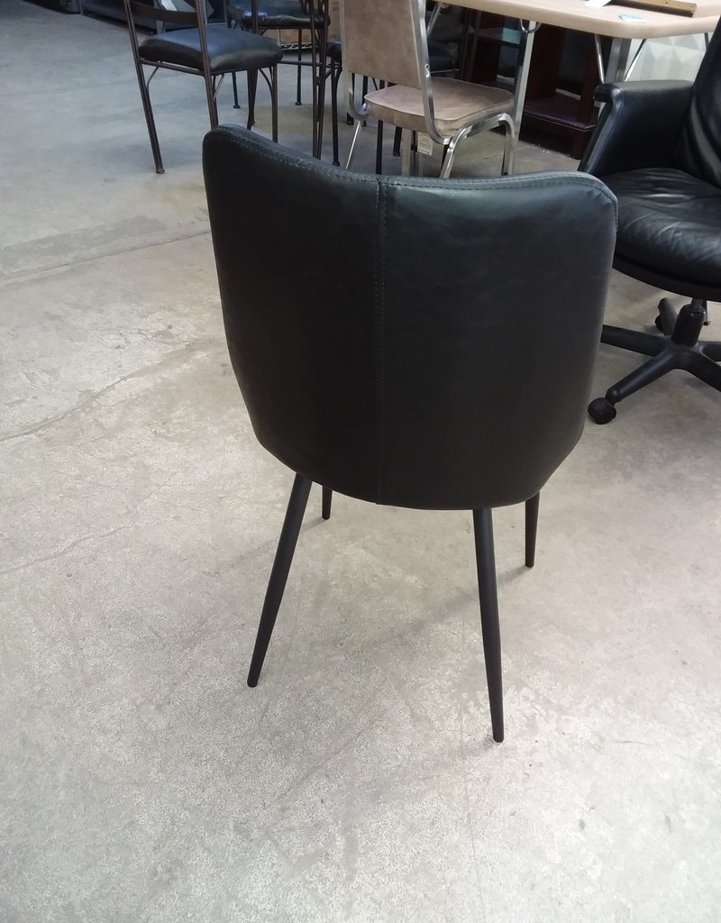 Studio District Store Black Pleather Accent Chair