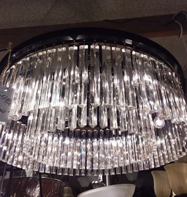 Vaughan Store Drum-shaped Crystal Chandelier