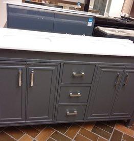 Vaughan Store Modern Grey Double Sink Vanity