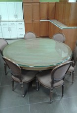 "Woodbridge Store 60"" Round Solid wood Pedestal Table"