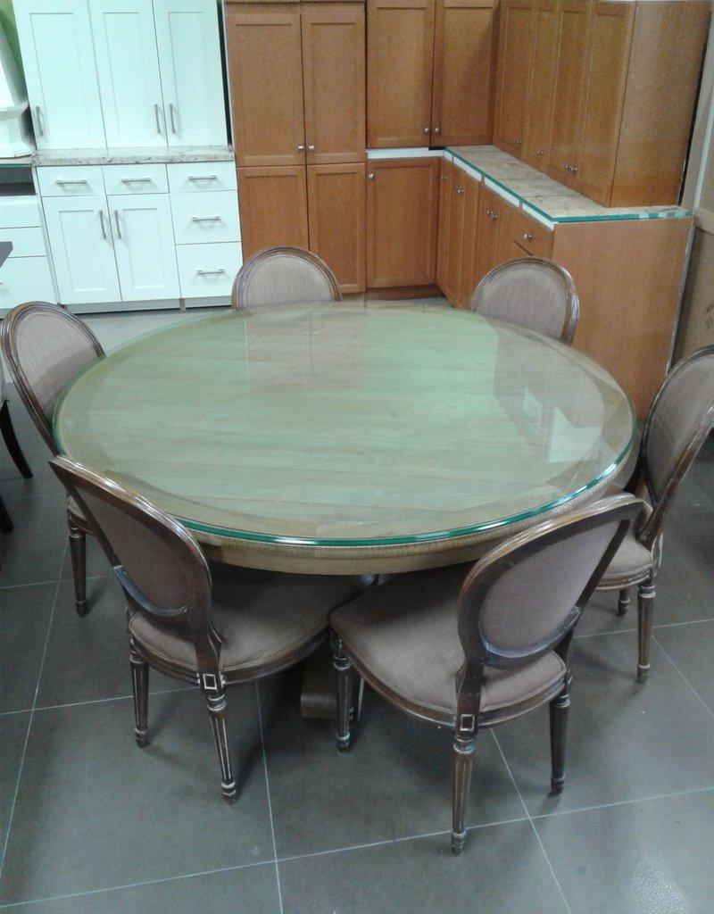 "Woodbridge Store 60"" Round Solid wood Pedestal Table"