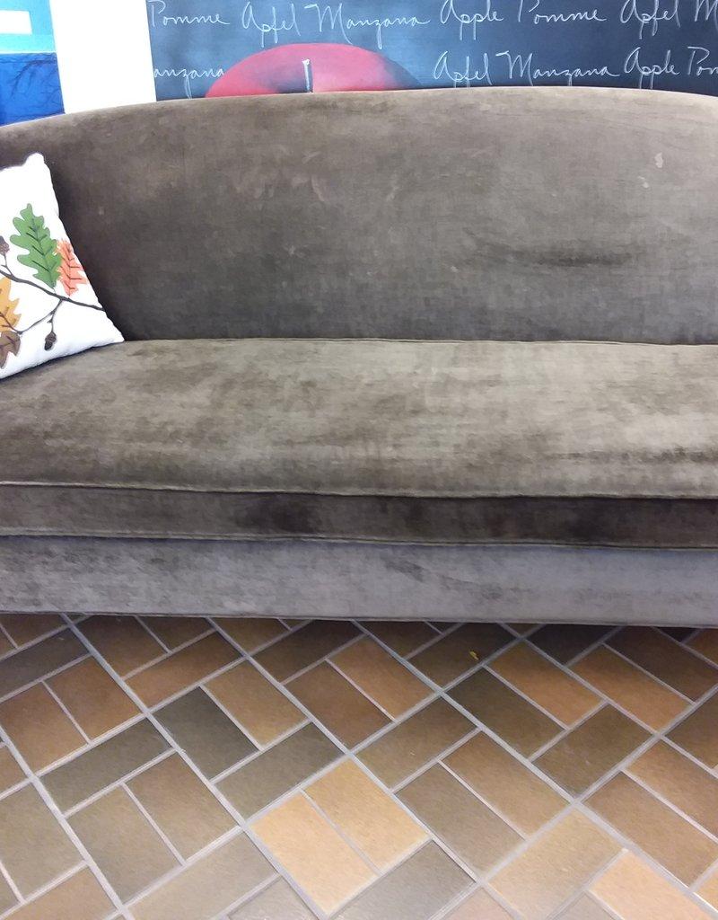 Vaughan Store Brown Velvet Sofa