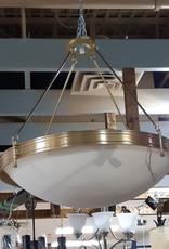 Woodbridge Store Metal and Glass Chandelier