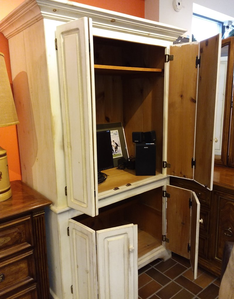 Vaughan Store Whitewashed Entertainment Unit
