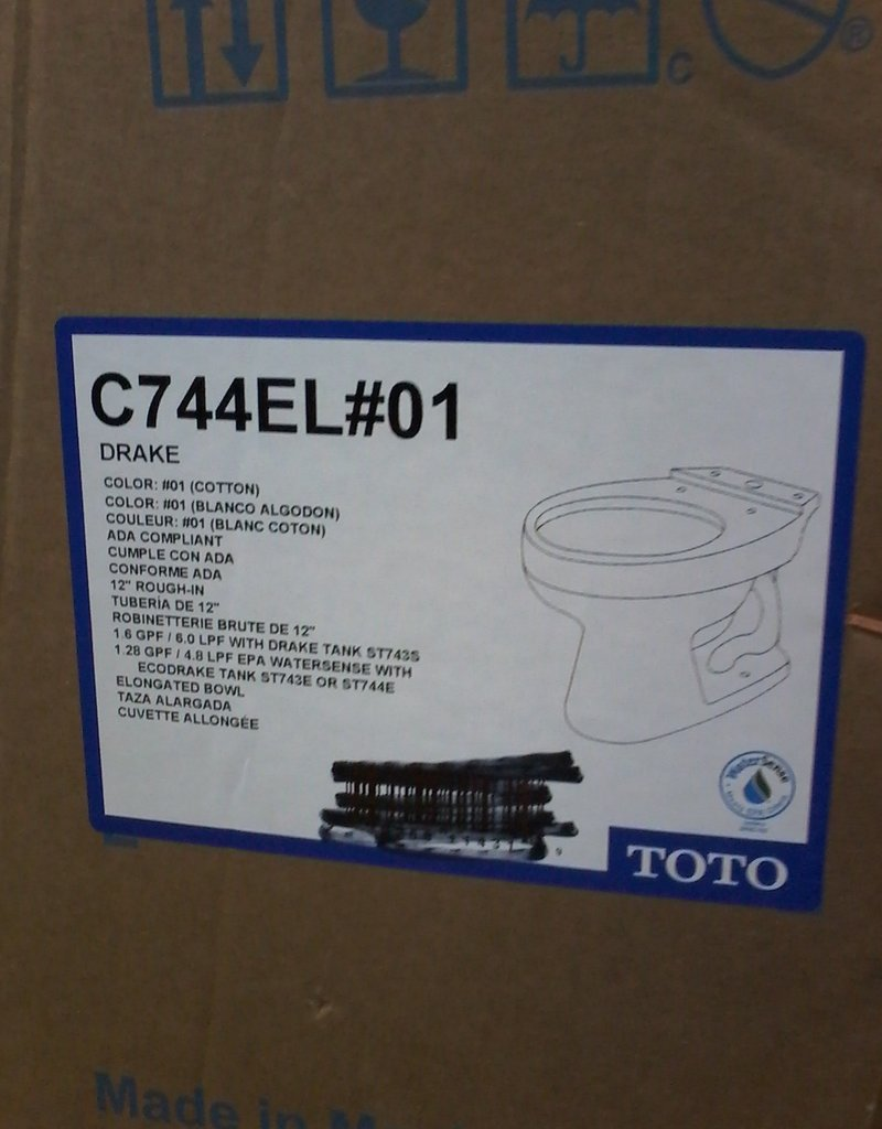 Markham East Store TOTO Eco Drake Elongated Toilet Bowl only