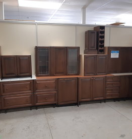 East York  Store Brown Kitchen Cabinets with Appliances
