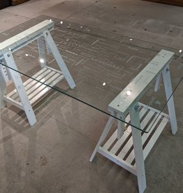 Newmarket Store Etched Glass Desk