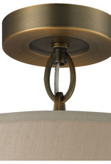Markham East Store Brand New Beige Baxter Brushed Antique Brass Elk Canopy Lighting