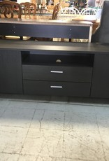 Brampton Store Black Wooden Television Stand