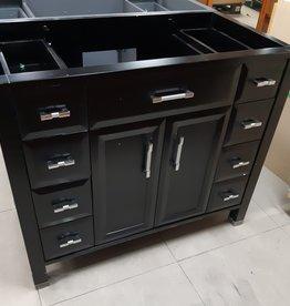 "Woodbridge Store 41"" Black Vanity Cabinet"