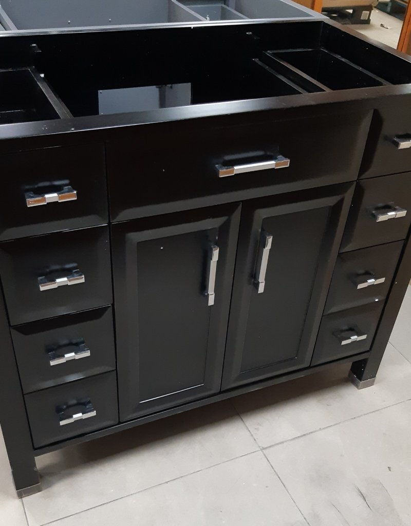 "Woodbridge Store 41"" Black Vanity Cabinet"