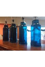 Vaughan Ocean Blue Glass Lamp Base