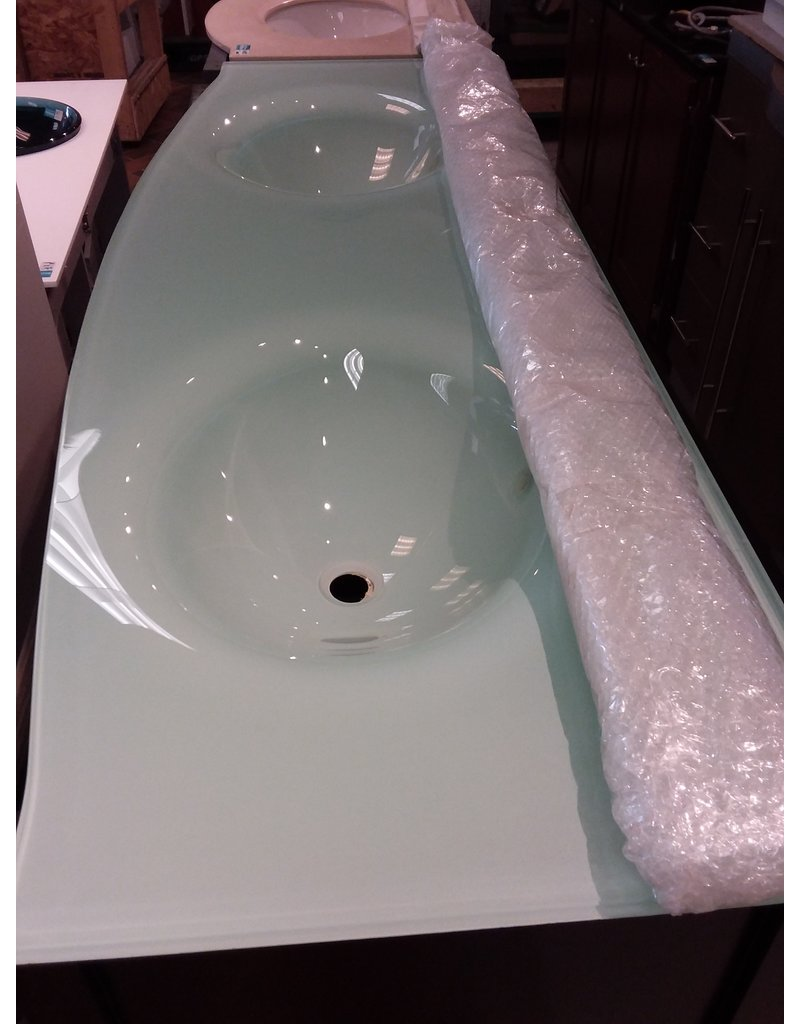 Vaughan Tempered Glass Counter top Double Sink
