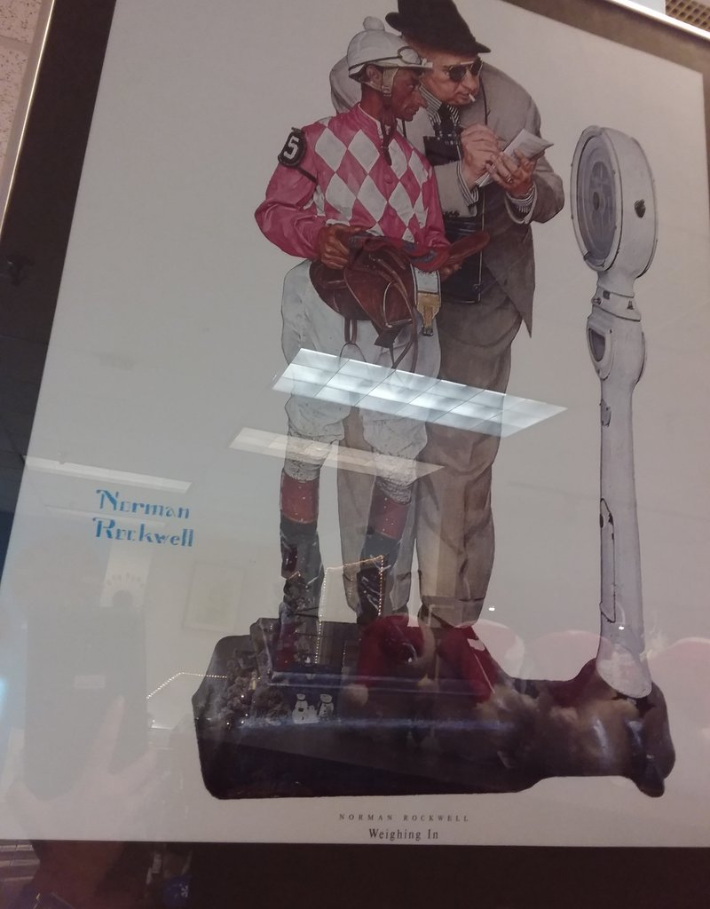 "Norman Rockwell's ""Weighing In"" Print"