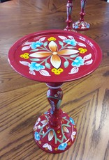 Vaughan Store Bright Red Hand-painted Candle Holders