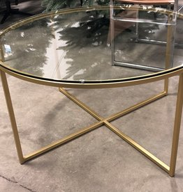 Brampton Store Glass and Brass Coffee Table