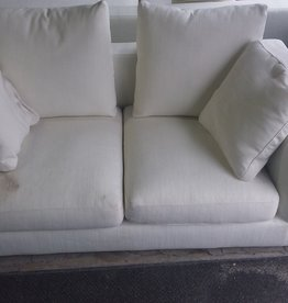 North York Store White loveseat sofa