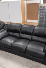 East York  Store Black Leather Sofa