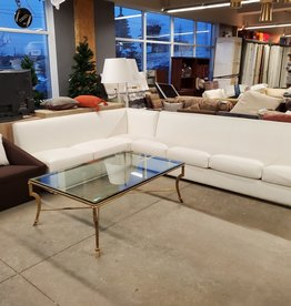 East York  Store White Sectional Leather Couch