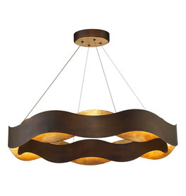 Etobicoke Store Vaughan Collection 100-Watt Bronze Integrated LED Chandelier