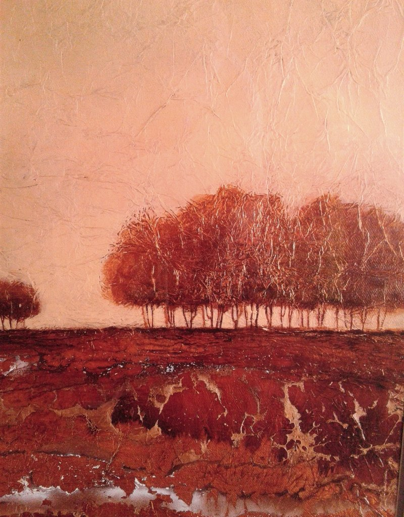 Woodbridge Store Bare Trees Framed Print