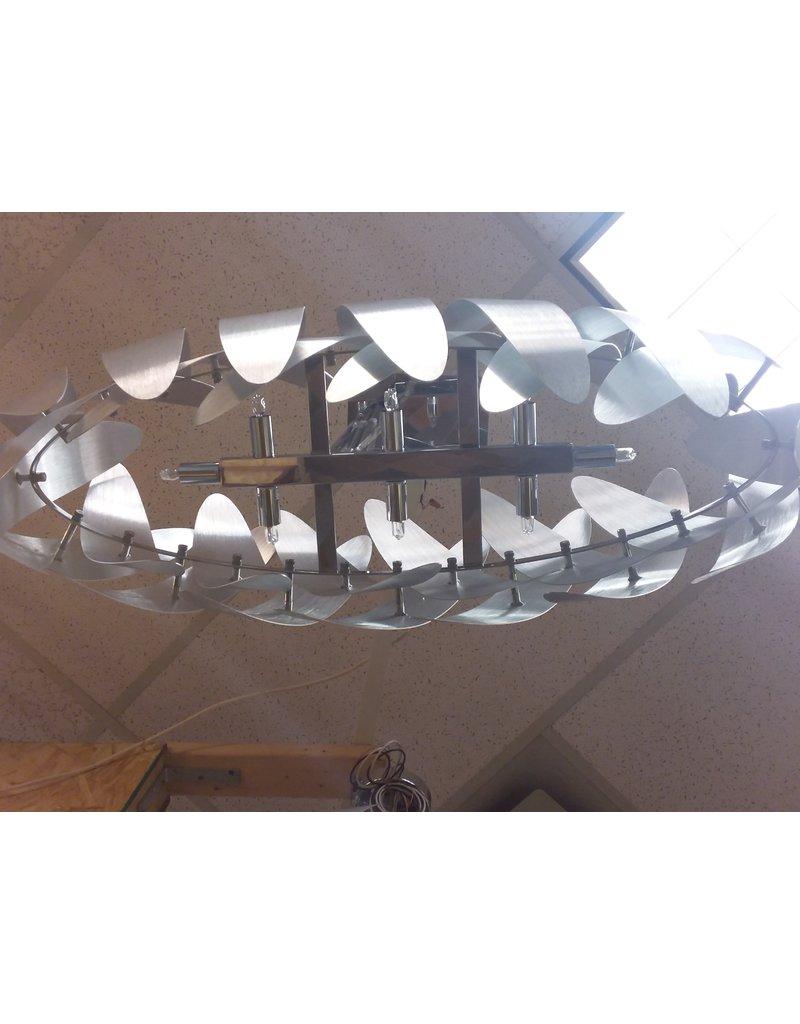 Vaughan ARTCRAFT Polished Chrome 8-Light Chandelier