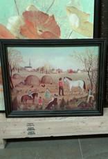 Woodbridge Store Folk Art Style Framed Print