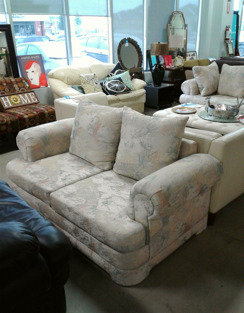 Woodbridge Store Light Patterned Love Seat