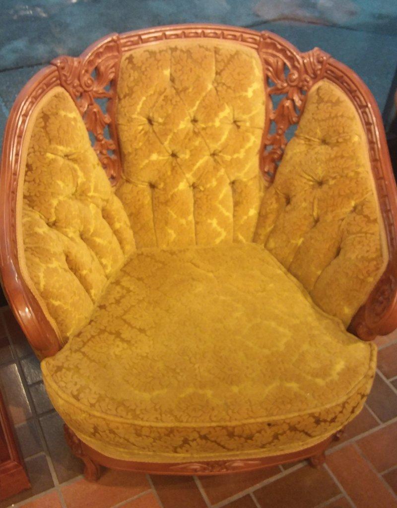 Vaughan Store Deep Gold Victorian Ornate Arm Chair