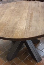 Vaughan Store Solid Round Wood Top Table