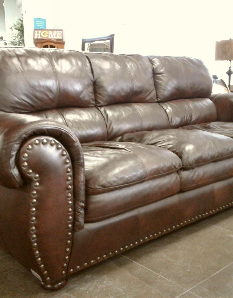Woodbridge Store Brown Leather Sofa
