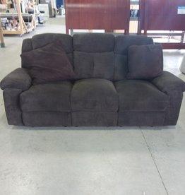 Markham West Store Sofa - 3 Seat - Recliner (Dark Brown)